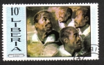 Stamps Liberia -  Rubens : Heads of Negroes