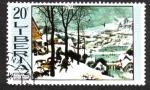 Sellos del Mundo : Africa : Liberia : P. Brueghel : Hunters in the Snow