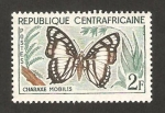 Stamps Africa - Central African Republic -  6 - Mariposa charaxe mobilis