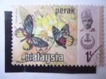 Stamps Malaysia -  Fauna; Perak - Delias Ninus.