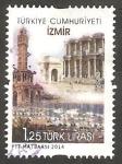 Sellos de Asia - Turquía -  Vista de la ciudad de Esmirna, La Perla del Egeo
