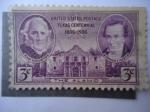 Sellos de America - Estados Unidos -  Sam Hoston y Stephen Austin - The Alamo, San Antonio.