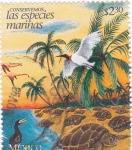 Stamps Mexico -  conservemos las especies marinas