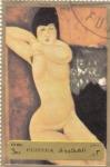 Stamps United Arab Emirates -  pinturas desnudos