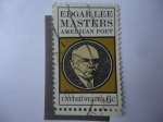 Stamps United States -  Poeta: Edgar Lee Masters.
