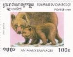 Sellos del Mundo : Asia : Camboya :  osos pardos
