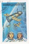 Sellos del Mundo : Asia : Camboya :  aeronautica- Soyuz-8