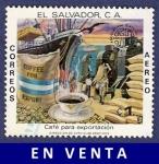 Sellos de America - El Salvador -  EL SALVADOR Lobo hiena 2 aéreo (2)