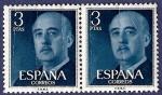 Sellos de Europa - España -  Edifil 1159 Serie básica Franco 3 doble (arrugas)