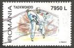 Sellos de Europa - Rumania -  4570 - Taewondo, deporte olímpico