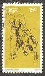 Stamps South Africa -  410 - Jugador de polo