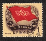 Stamps Romania -  25 ° aniversario de la huelga Grivita