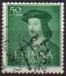 Stamps Spain -  ESPAÑA 1952 1106 Sello V Centenario del Nacimiento de Fernando el Católico Usado