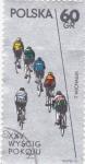 Sellos del Mundo : Europa : Polonia : carrera ciclista