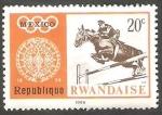 Sellos de Africa - Rwanda -  263 - Olimpiadas de Mexico, hípica