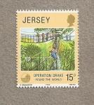Stamps United Kingdom -  Operacion Drake, Jersey