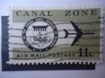Stamps United States -  Zona del Canal-Sello del Ismo de Panamá.