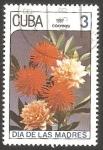 Stamps : America : Cuba :  2762 - Día de las Madres, dálias