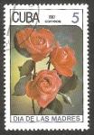 Stamps : America : Cuba :  2763 - Día de las madres, rosas