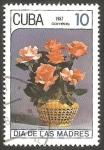 Stamps : America : Cuba :  2764 - Día de las Madres, rosas