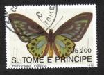 Sellos de Africa - Santo Tomé y Principe -  Mariposas