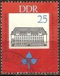 Sellos de Europa - Alemania -  150o cumpleaños JASmoler-Casa de los sorbios en Bautzen(DDR).
