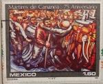 Stamps : America : Mexico :  martires de cananea 75 aniv.