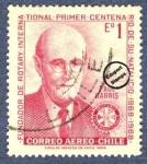 Stamps Chile -  Centenario del nacimiento de Paul Harris (1868-1947)