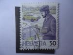 Stamps Switzerland -  Buzón-Correspondencia-Cartero - S/786