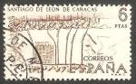 Stamps Spain -  1893 - Plano de Santiago de León de Caracas