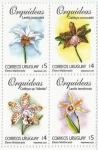 Sellos del Mundo : America : Uruguay : Orquídeas