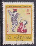 Stamps Vietnam -  niñas