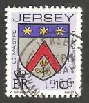 Stamps Jersey -  246 - Blasón de la familia Le Maistre