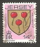 Sellos del Mundo : Europa : Isla_de_Jersey : 261 - Blasón de la familia de Messervy