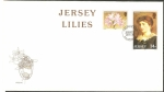 Sellos del Mundo : Europa : Isla_de_Jersey : Flor y Lillie Langtry
