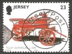 Sellos del Mundo : Europa : Isla_de_Jersey : 994 - Vehículo de bomberos