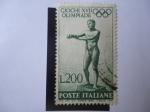 Stamps : Europe : Italy :  Giochi XVII Olimpiade - Apoxiomenos de Lisipo (Estatua)-Juegos Olímpicos de Verano 1960-Roma