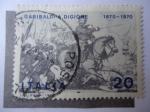 Stamps Italy -  Giuseppe Garibaldi (1807-1882)- Guerra Franco-Pruciana- Batalla de Dijon-Francia.