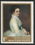 Sellos de Europa - Hungría -  Mrs István Bittó by Miklós Barabás (1796)