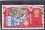 Stamps : America : United_Kingdom :  ilustración de un angel
