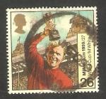 Stamps United Kingdom -  2101 - Bobby Moore en el Mundial de Fútbol de 1966