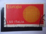 Stamps Italy -  Europa C.E.P.T. - Tejido.