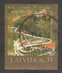 Sellos del Mundo : Europa : Letonia : 682 - 800 anivº de la villa de Sigulda, pista de bobsleigh