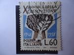 Sellos de Europa - Italia -  X Annuale della Constituzione 1948-1958 - Árbol de Roble.