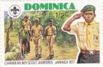 Sellos del Mundo : America : Dominica :  Boy Scouts- Jamaica