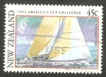 Stamps : Oceania : New_Zealand :  1155 - Challenge Cup America 1992