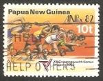 Stamps Oceania - Papua New Guinea -  445 - Juegos de la Commonwealth