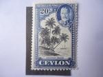 Sellos de Asia - Sri Lanka -  Coconut Palms. Postage and revenue