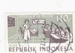 Stamps Indonesia -  enseñanza