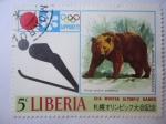 Stamps : Africa : Liberia :  XI Juegos Olimpicos de Invierno - Sapporo 72.